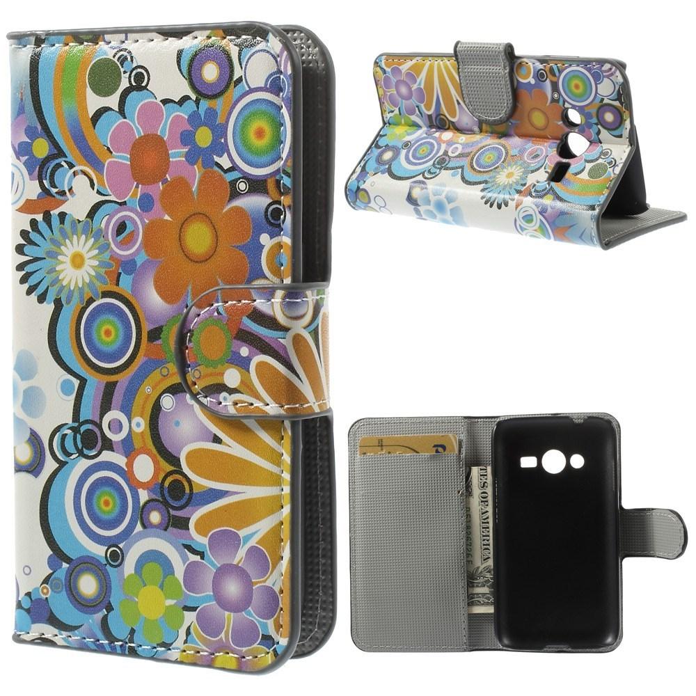 Billede af Samsung Galaxy Trend 2 / 2 Lite Design Flip Cover m. Stand - Colorful Flowers
