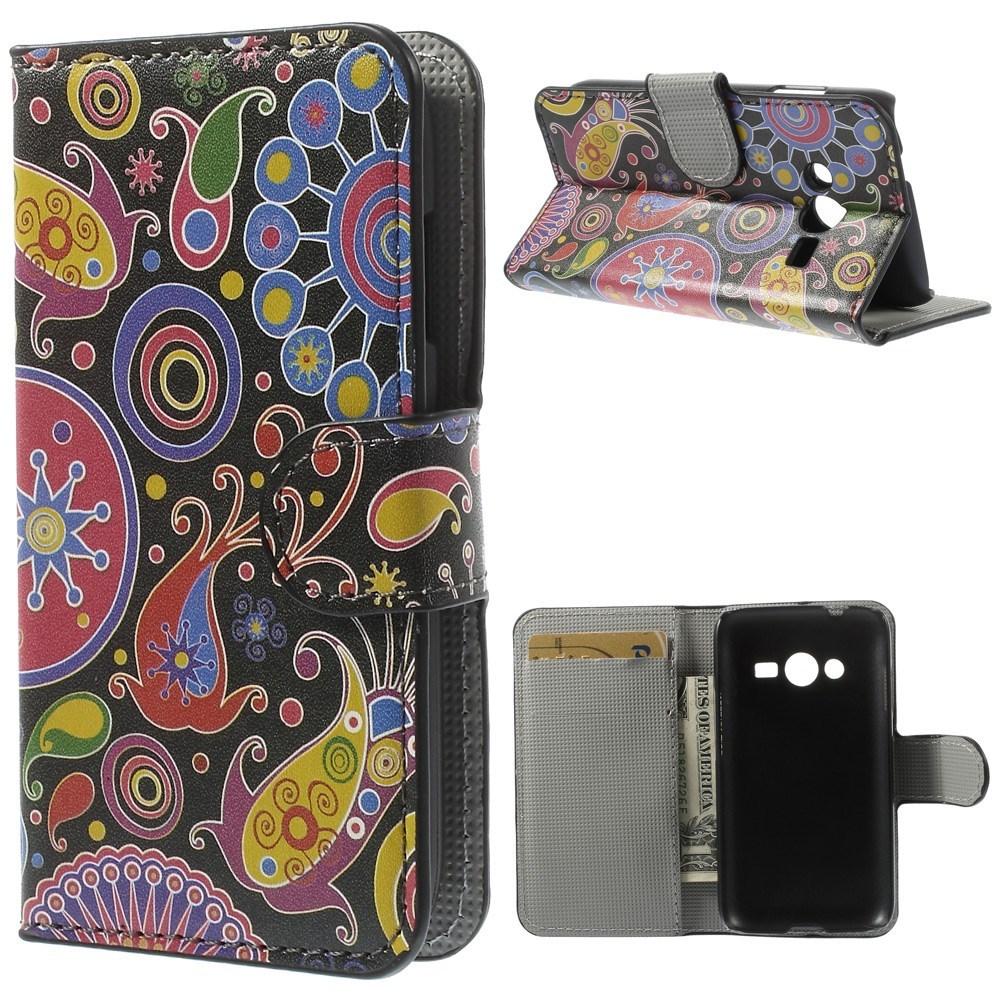 Billede af Samsung Galaxy Trend 2 / 2 Lite Design Flip Cover m. Stand - Paisley Flowers