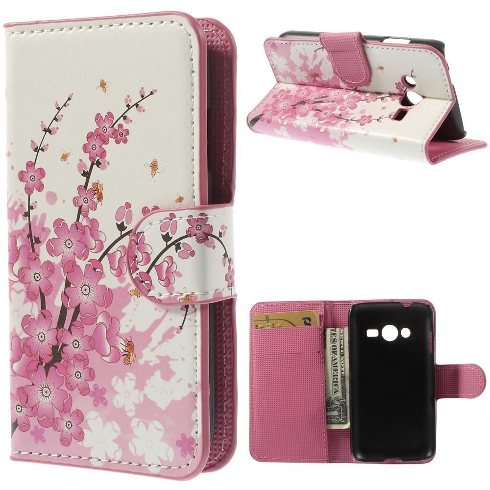 Billede af Samsung Galaxy Trend 2 / 2 Lite Design Flip Cover m. Stand - Plum Blossom