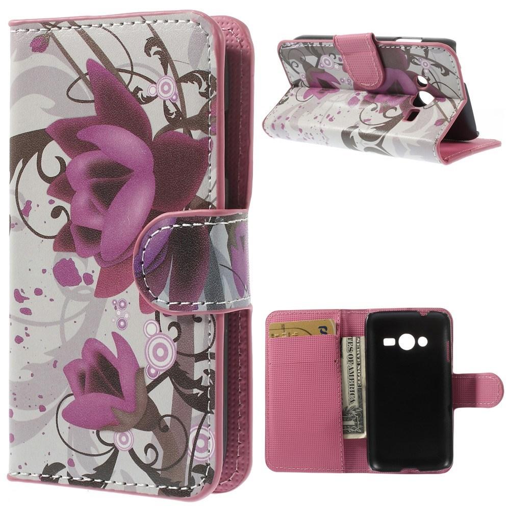 Billede af Samsung Galaxy Trend 2 / 2 Lite Design Flip Cover m. Stand - Lotus Flower