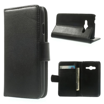 Image of Samsung Galaxy Ace 4 LTE Style Flip Cover Med Pung - Sort