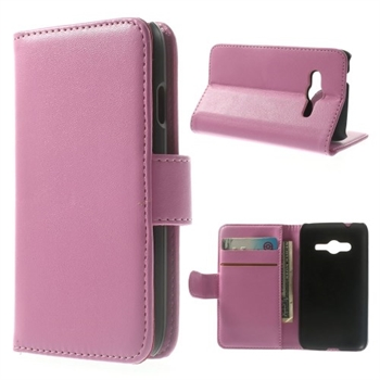 Image of Samsung Galaxy Ace 4 LTE Style Flip Cover Med Pung - Pink