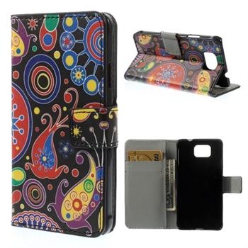 Billede af Samsung Galaxy Alpha Design Flip Cover Med Pung - Paisley