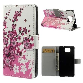 Billede af Samsung Galaxy Alpha Design Flip Cover Med Pung - Plum Blossom