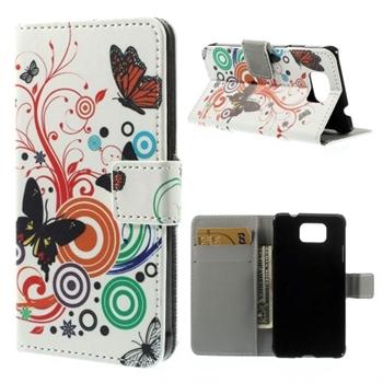 Billede af Samsung Galaxy Alpha Design Flip Cover Med Pung - Vivid Butterfly