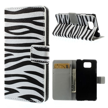 Billede af Samsung Galaxy Alpha Design Flip Cover Med Pung - Zebra