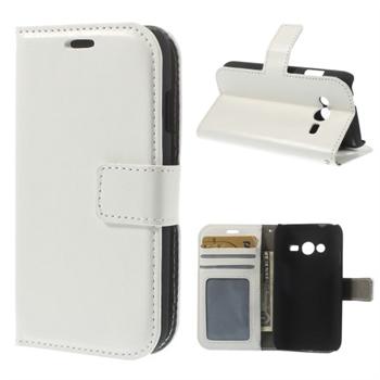Image of Samsung Galaxy Ace 4 LTE Modern Flip Cover Med Pung - Hvid