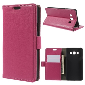 Image of Samsung Galaxy A3 Deluxe Flip Cover Med Pung - Rosa