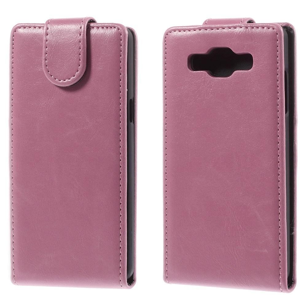 Billede af Samsung Galaxy A5 Læder Cover m. Magnetlukning - Pink