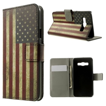 Image of Samsung Galaxy A3 Design Flip Cover Med Pung - Stars & Stripes
