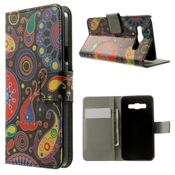 Image of Samsung Galaxy A3 Design Flip Cover Med Pung - Paisley