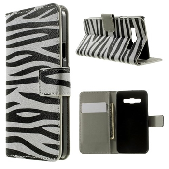 Billede af Samsung Galaxy A3 Design Flip Cover Med Pung - Zebra