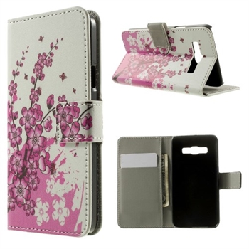 Image of Samsung Galaxy A3 Design Flip Cover Med Pung - Plum Blossom