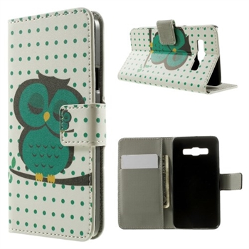 Image of Samsung Galaxy A3 Design Flip Cover Med Pung - Sleeping Owl