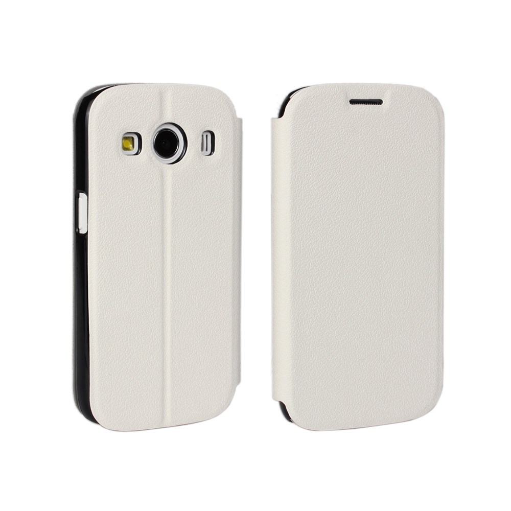 Image of Samsung Galaxy Ace 4 Slim Flip Cover m. Stand - Hvid