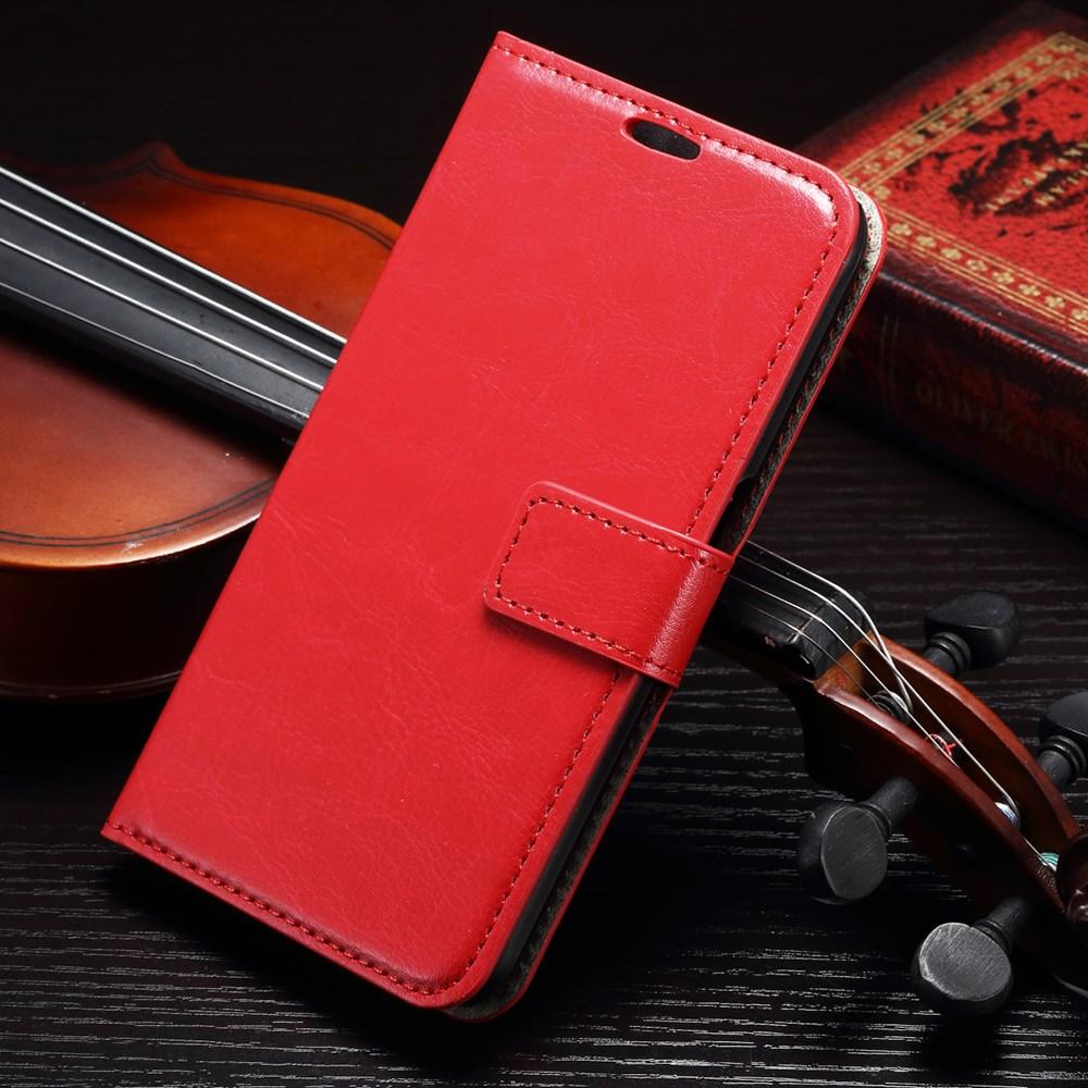 Billede af Samsung Galaxy S6 Læder Cover m. Kortholder - Rød