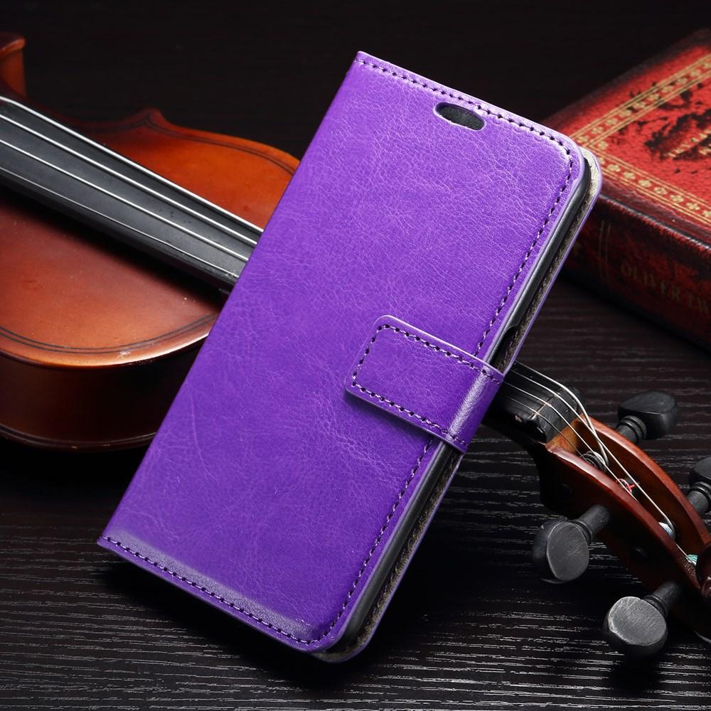 Billede af Samsung Galaxy S6 Læder Cover m. Kortholder - Lilla