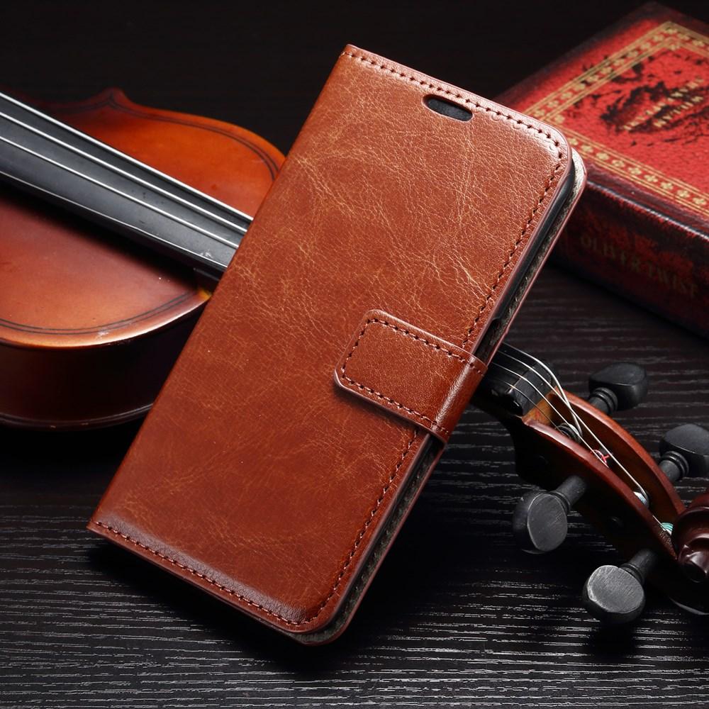 Billede af Samsung Galaxy S6 Læder Cover m. Kortholder - Brun