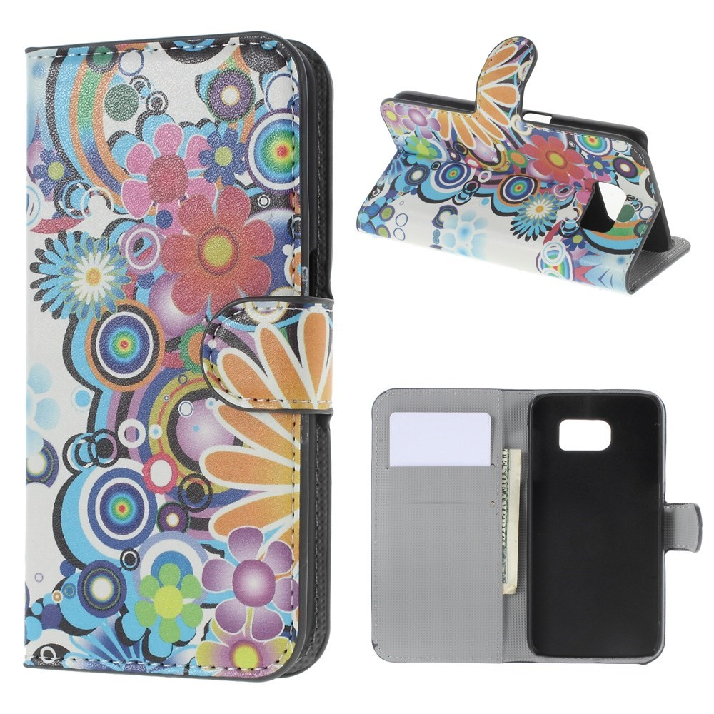 Billede af Samsung Galaxy S6 Smart Cover m. Stand - Colorized Flowers