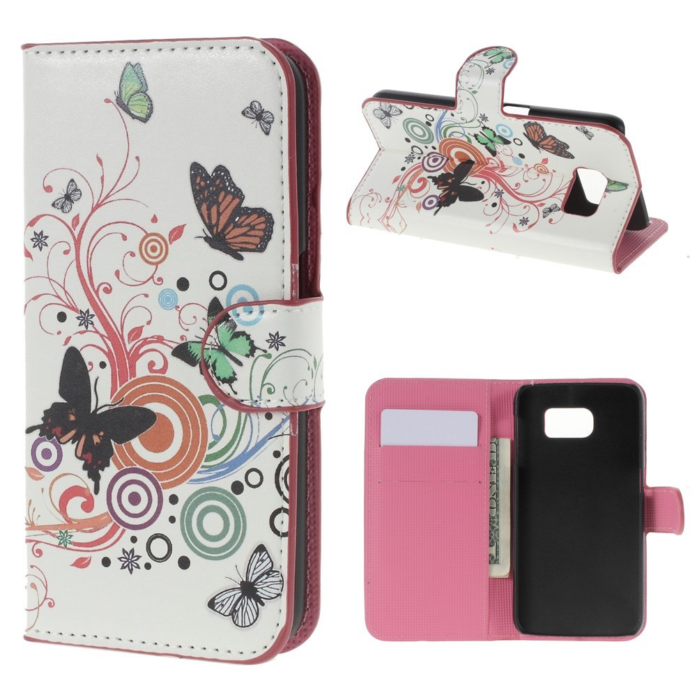 Billede af Samsung Galaxy S6 Smart Cover m. Stand - Butterfly Circles