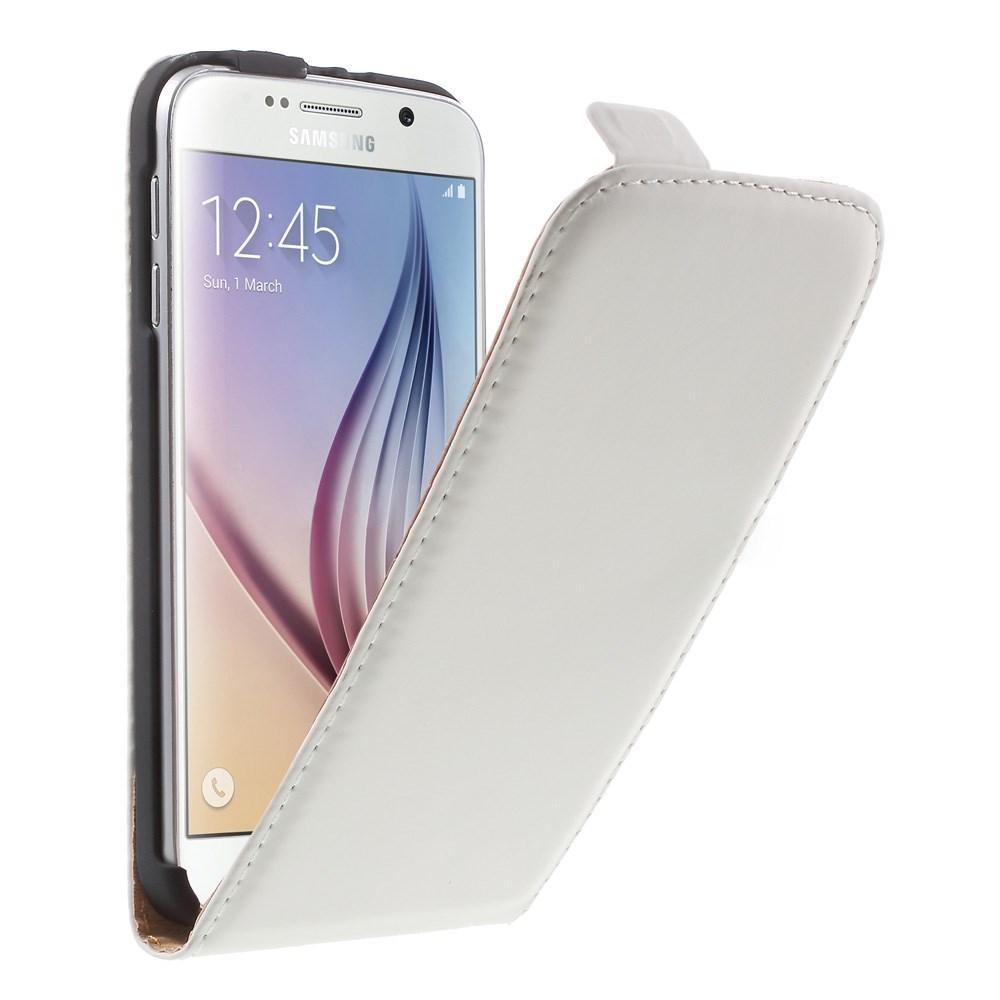 Billede af Samsung Galaxy S6 Læder Flip Cover - Hvid