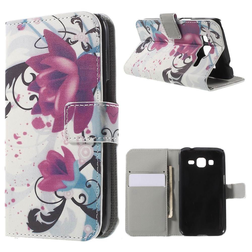 Image of Samsung Galaxy Core Prime Design Flip Cover - Kapok Flower