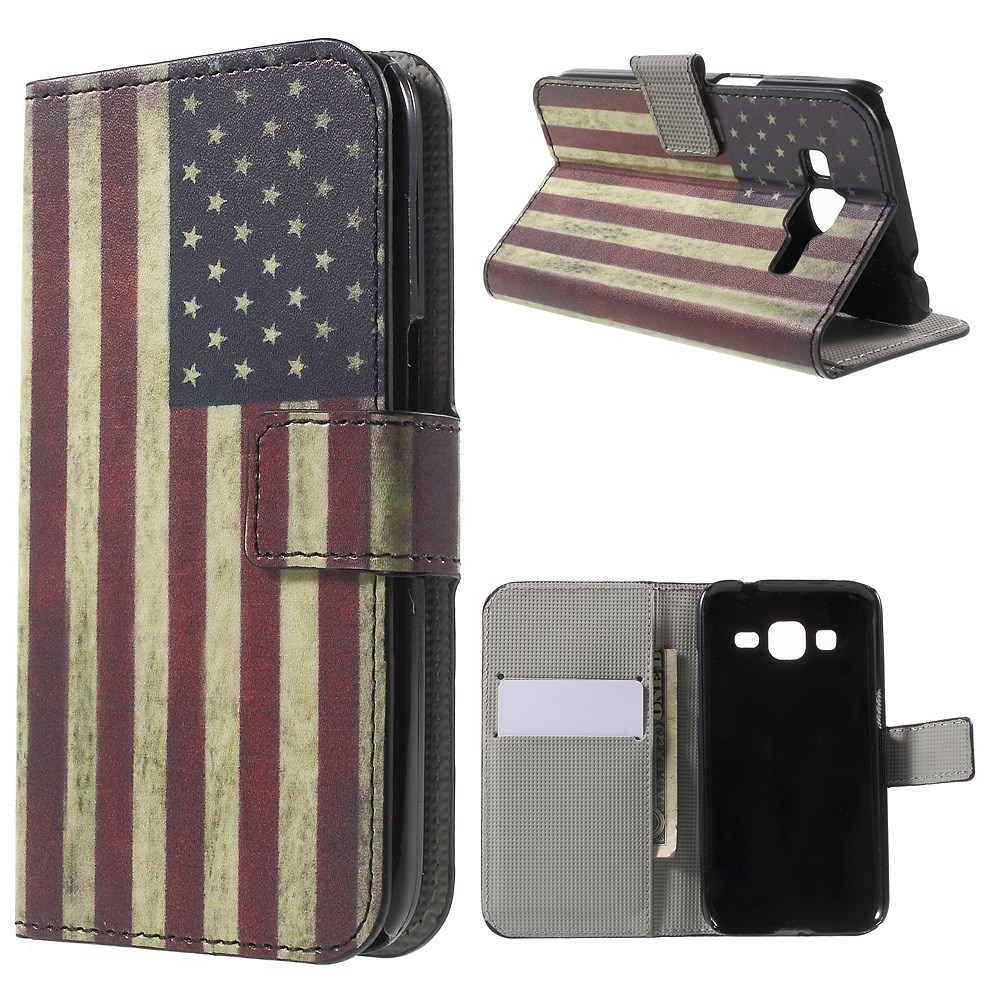 Billede af Samsung Galaxy Core Prime Design Flip Cover - Stars & Stripes