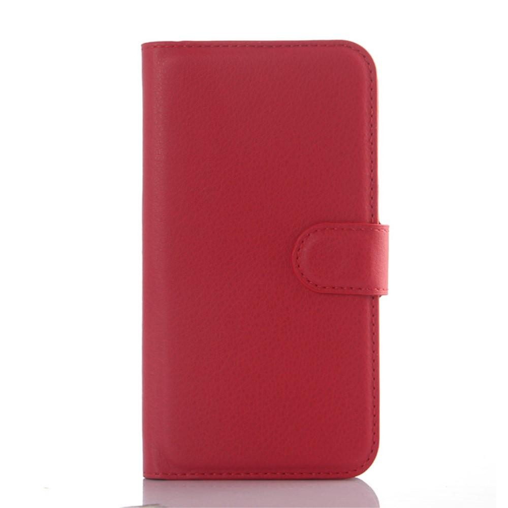 Billede af Samsung Galaxy J5 PU Læder Flipcover m. Kortholder - Rød
