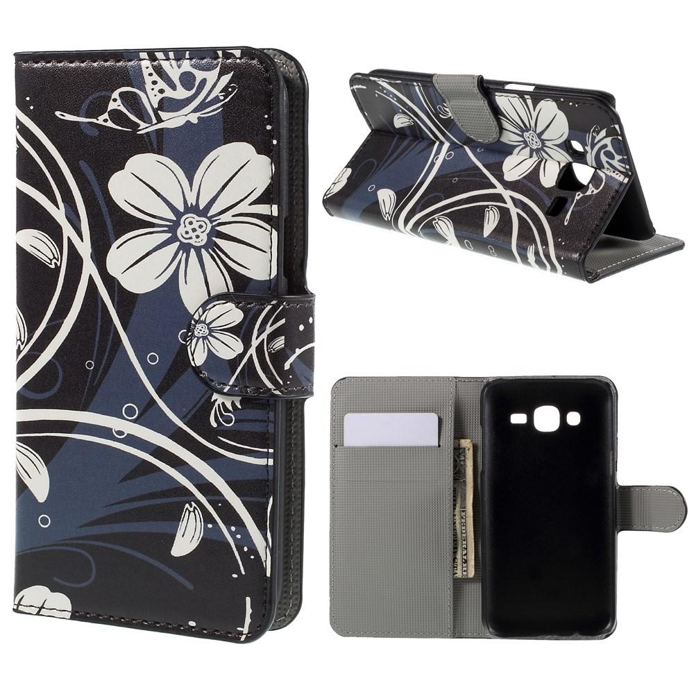 Billede af Samsung Galaxy J5 Design Flip Cover m. Pung - White Flowers