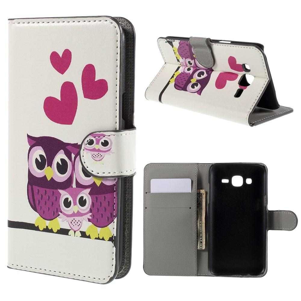 Billede af Samsung Galaxy J5 Design Flip Cover m. Pung - Owls