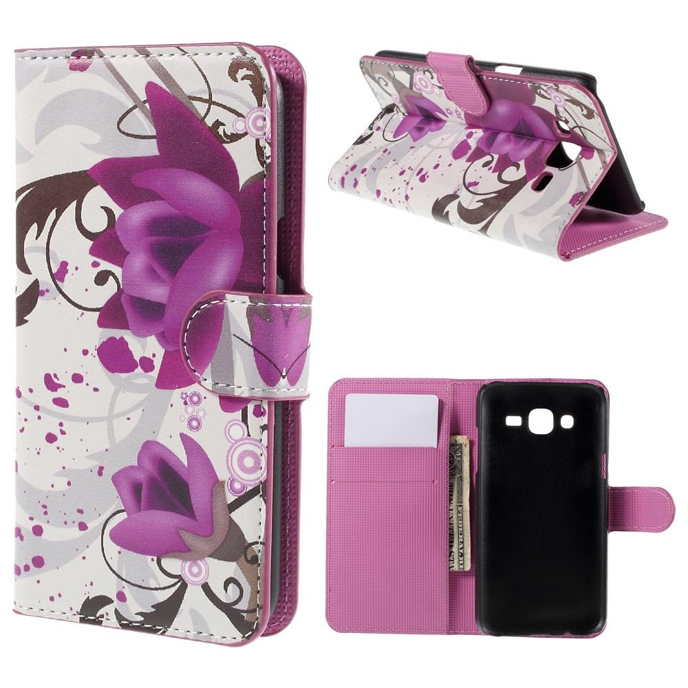 Billede af Samsung Galaxy J5 Design Flip Cover m. Pung - Elegant Lotus