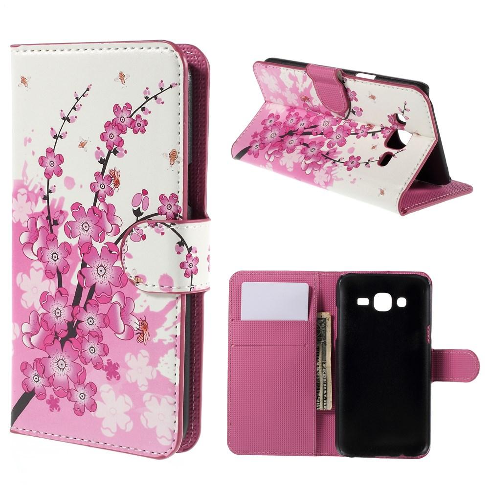 Billede af Samsung Galaxy J5 Design Flip Cover m. Pung - Plum Blossom