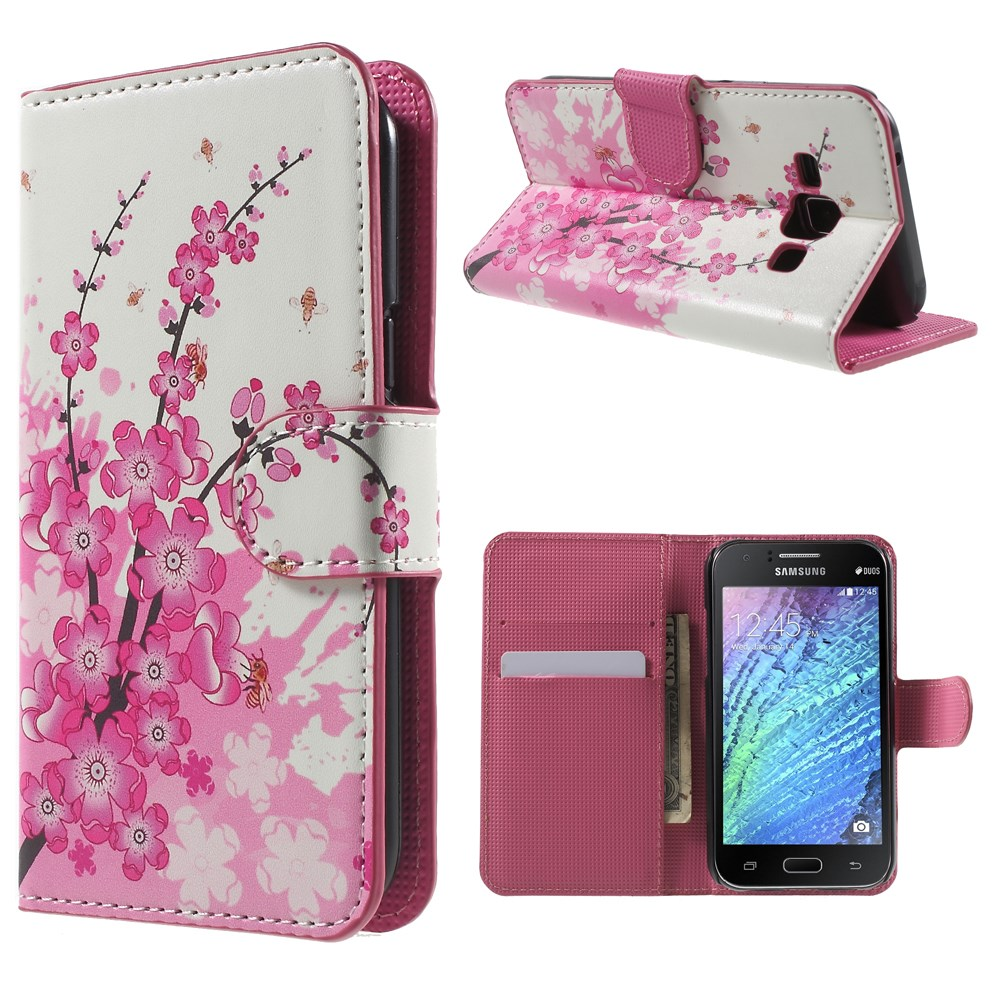 Billede af Samsung Galaxy J1 Design Flip Cover m. Stand - Plum Blossom