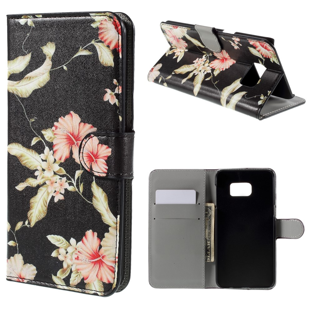 Image of   Samsung Galaxy S6 Edge Plus Smart Flip Cover m. Pung - Beautiful Flowers