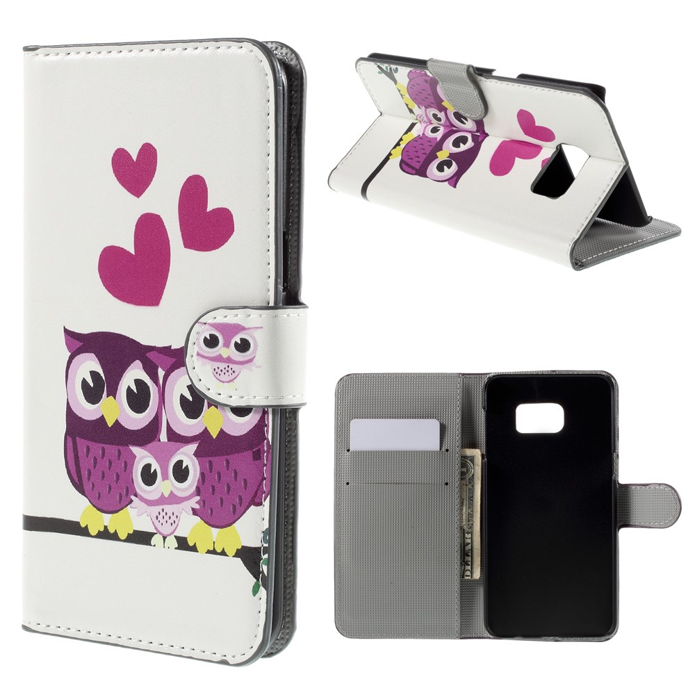 Image of   Samsung Galaxy S6 Edge Plus Smart Flip Cover m. Pung - Owl Couple