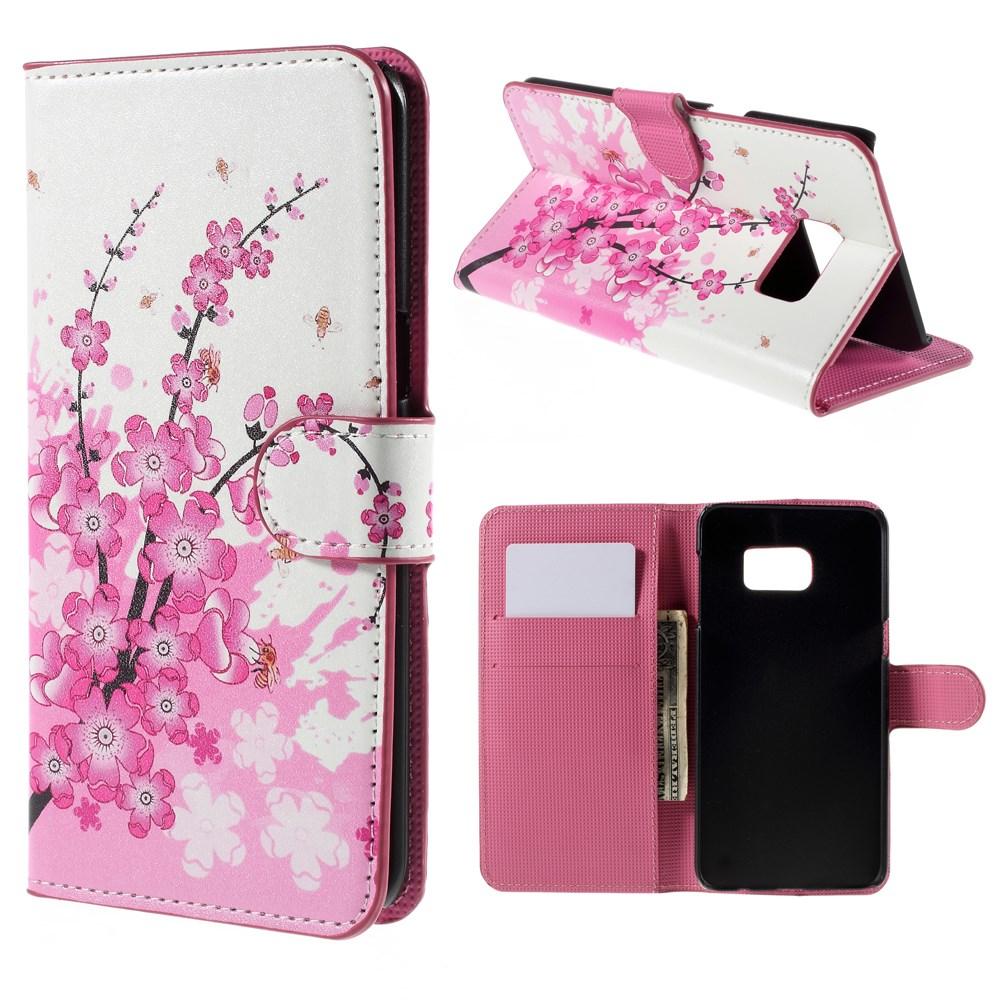 Image of   Samsung Galaxy S6 Edge Plus Smart Flip Cover m. Pung - Plum Blossom