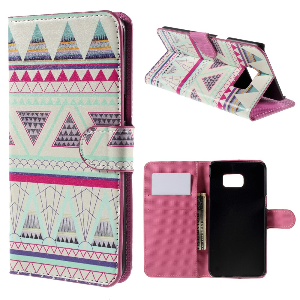 Image of   Samsung Galaxy S6 Edge Plus Smart Flip Cover m. Pung - Geometric