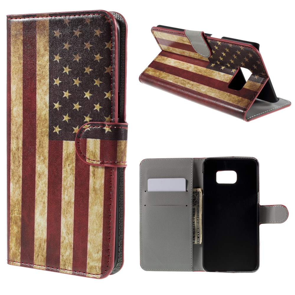 Image of   Samsung Galaxy S6 Edge Plus Smart Flip Cover m. Pung - Stars & Stripes