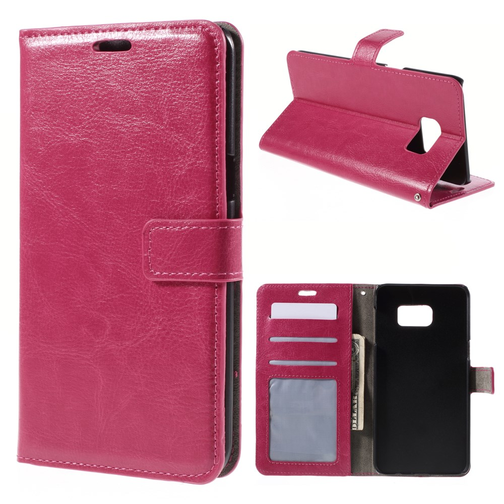 Image of   Samsung Galaxy S6 Edge Plus Smart Flip Cover m. Pung - Pink