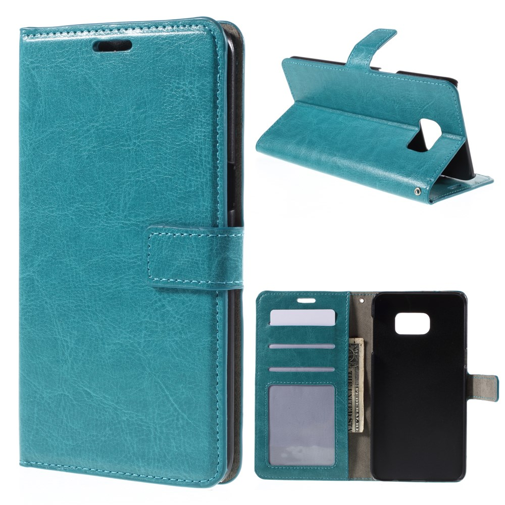 Image of   Samsung Galaxy S6 Edge Plus Smart Flip Cover m. Pung - Turkis