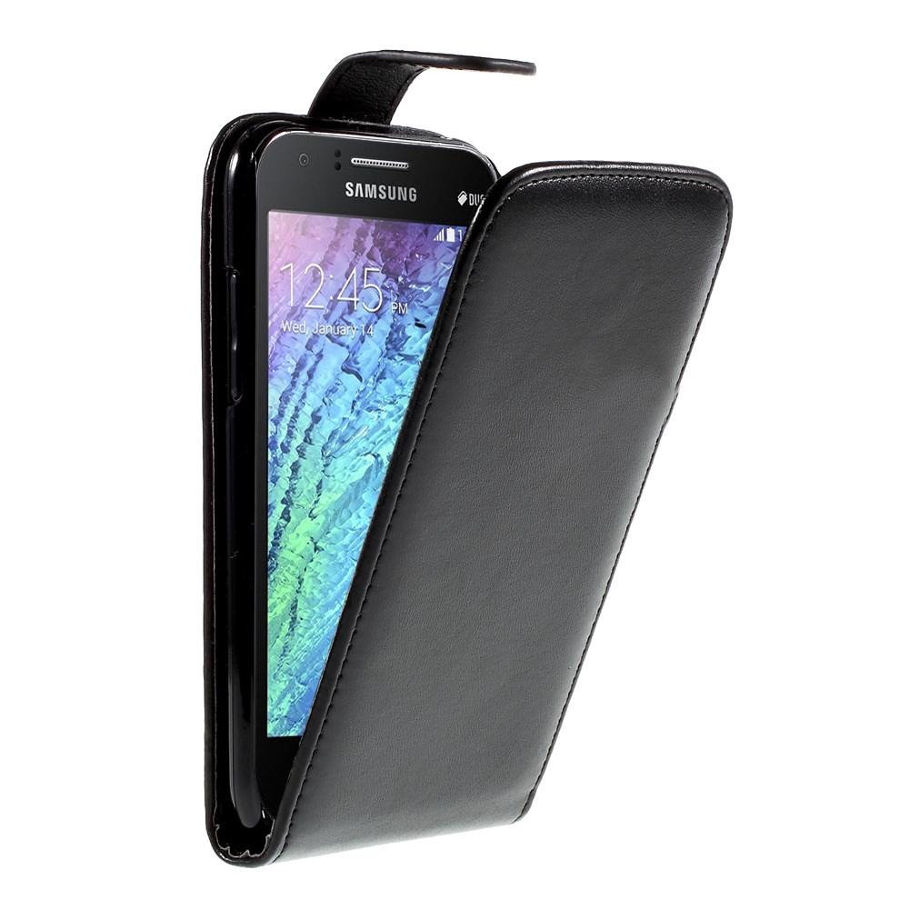 Billede af Samsung Galaxy J1 Vertical Flip Cover m. Magnetlukning - Sort
