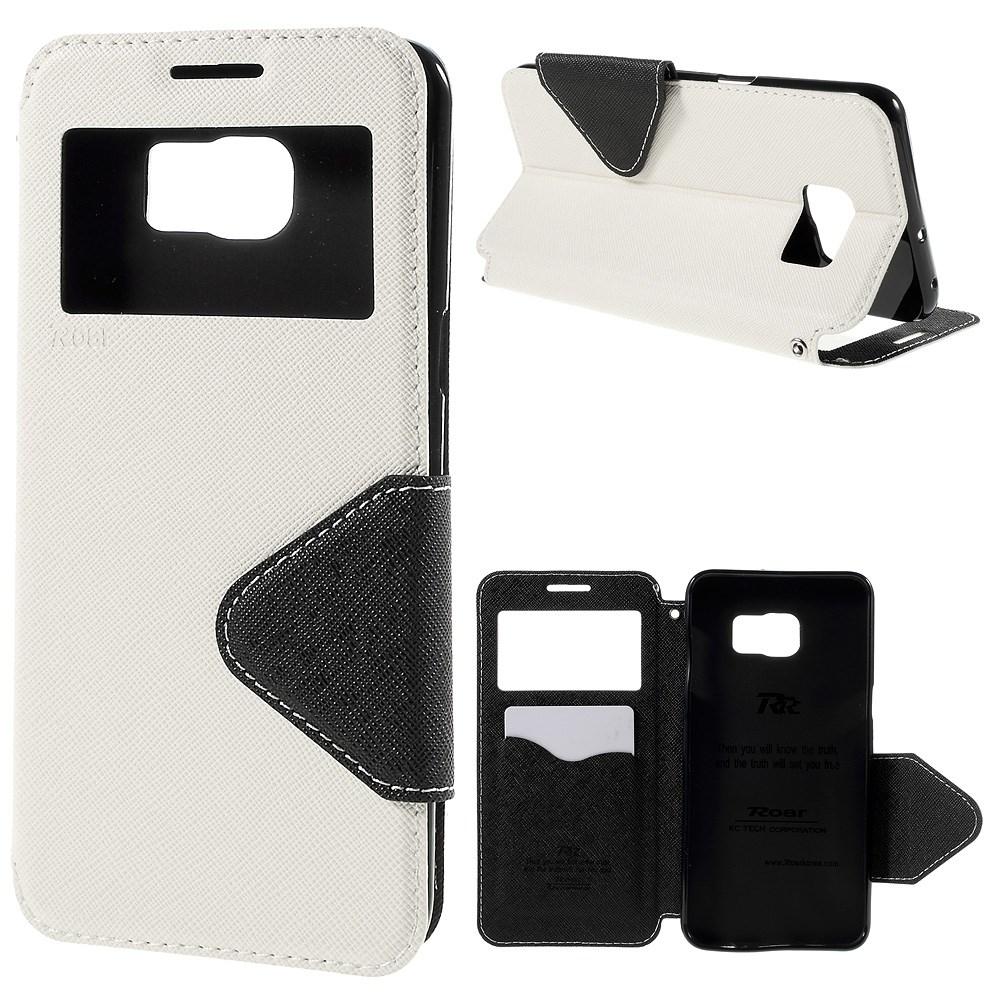 Billede af Samsung Galaxy S6 Edge Plus Flip Cover m. Vindue - Hvid