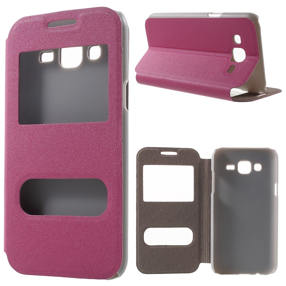 Billede af Samsung Galaxy J5 Flip Cover m. Vindue & Stand - Pink
