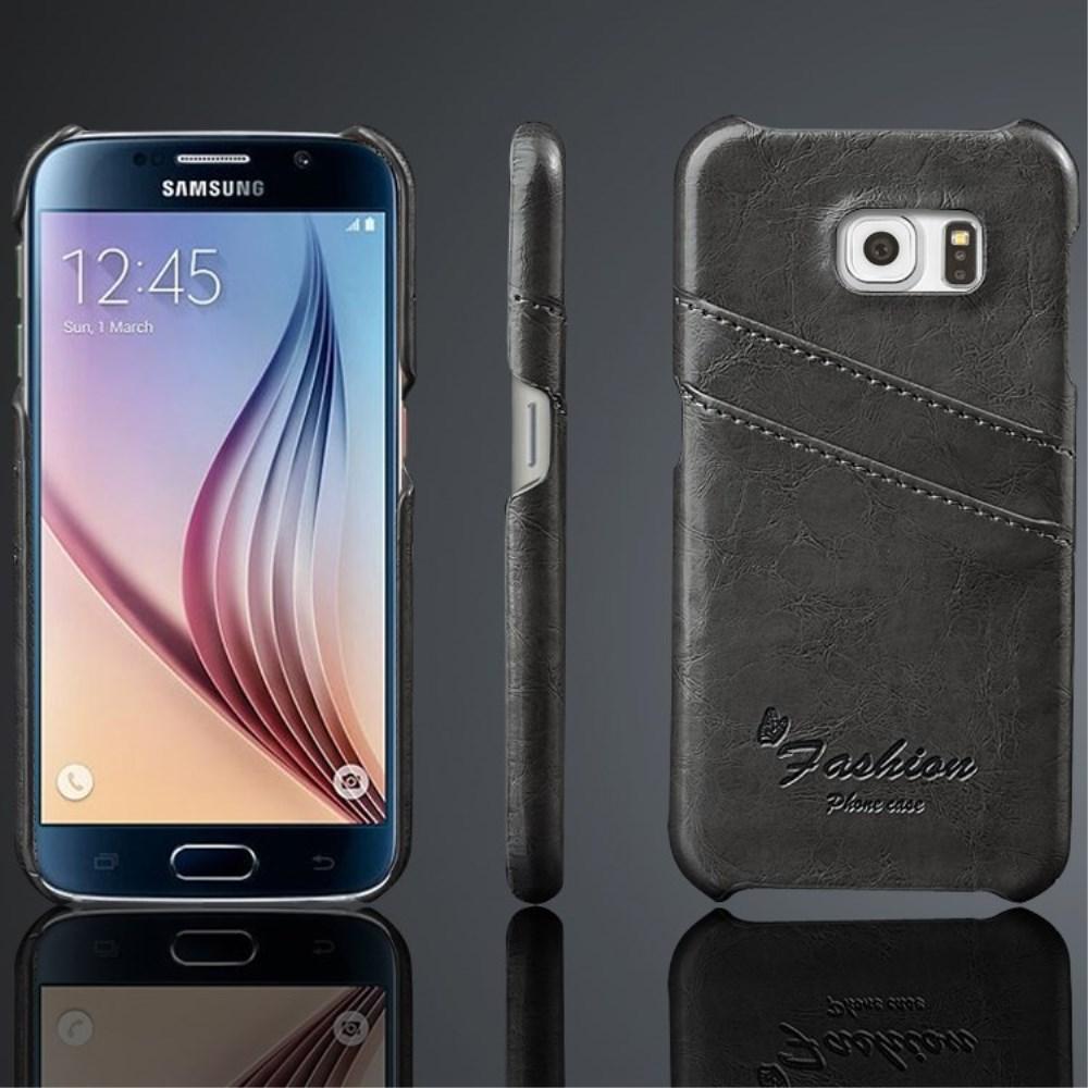 Billede af Samsung Galaxy S6 Slim Lædercover m. Kortholder - Grå