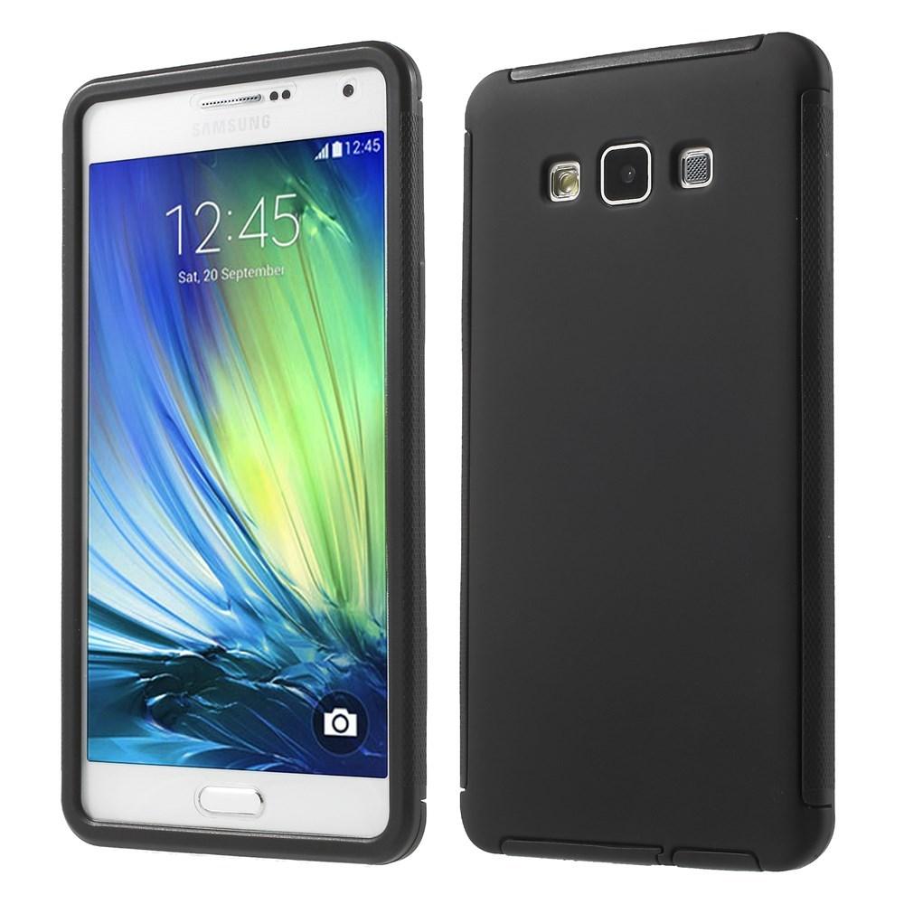Billede af Samsung Galaxy A7 (2015) TPU/Plastik Hybrid Cover m. Skærmbeskyttelse - Sort