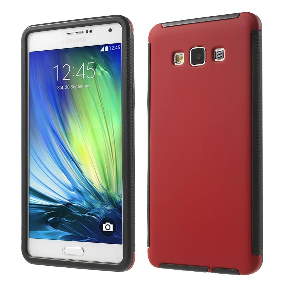 Billede af Samsung Galaxy A7 (2015) TPU/Plastik Hybrid Cover m. Skærmbeskyttelse - Rød