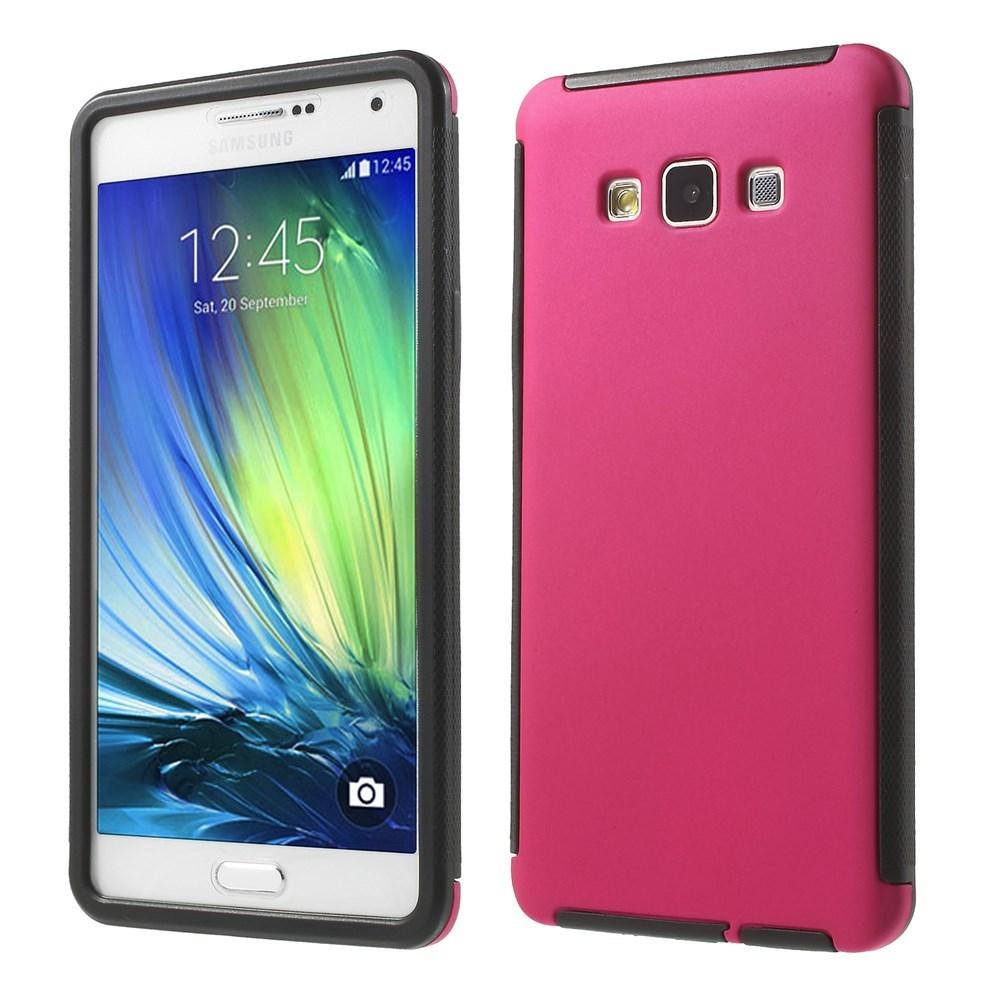 Billede af Samsung Galaxy A7 (2015) TPU/Plastik Hybrid Cover m. Skærmbeskyttelse - Pink