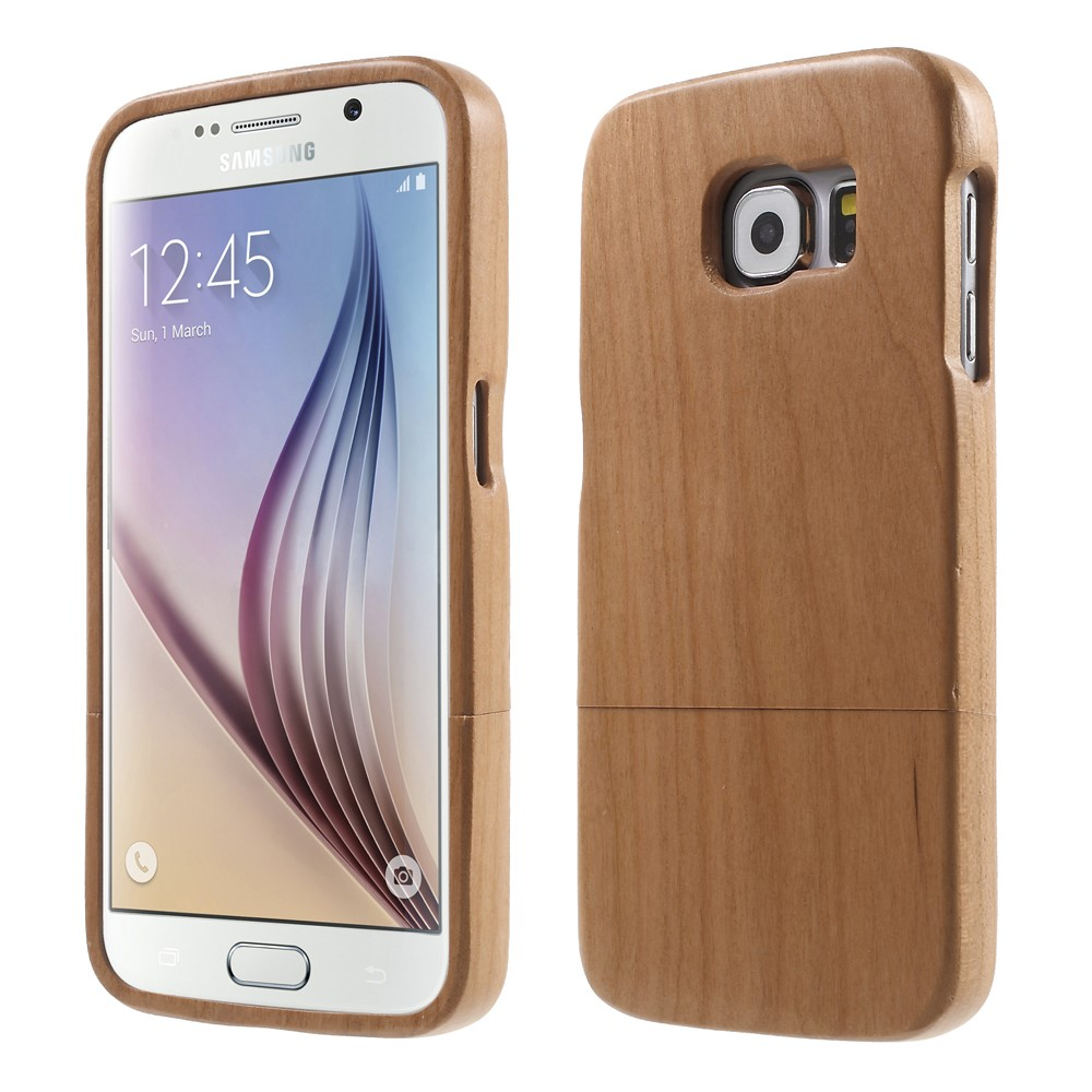 Image of Samsung Galaxy S6 InCover Træ Cover - Brun
