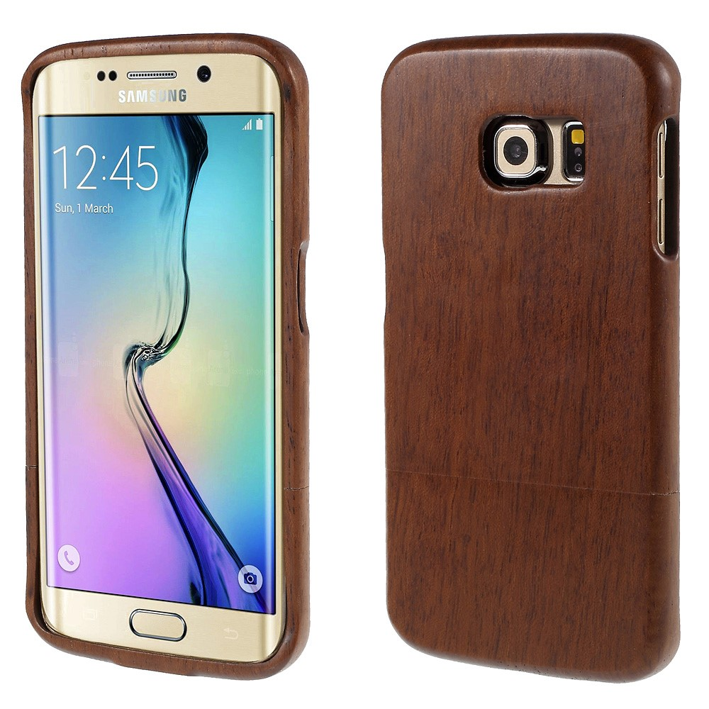 Image of Samsung Galaxy S6 Edge InCover Træ Cover - Vinrød