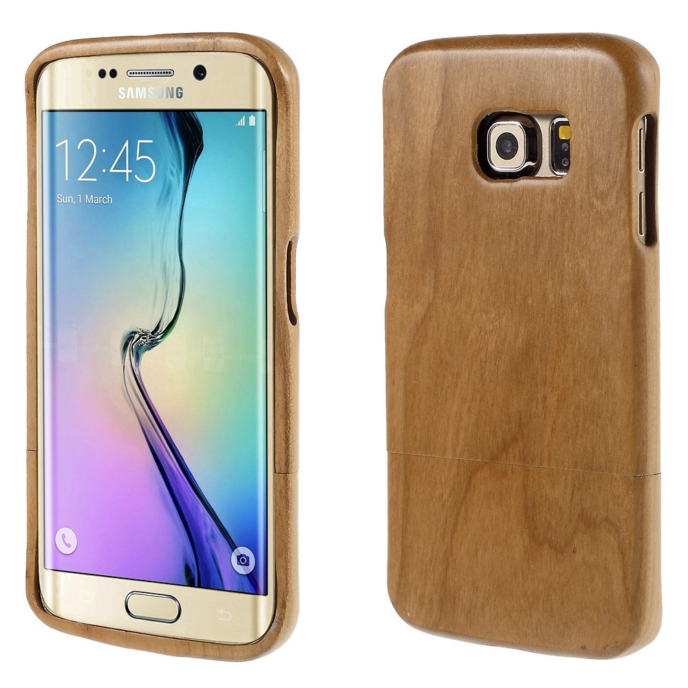 Image of Samsung Galaxy S6 Edge InCover Træ Cover - Lys brun
